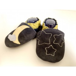 Chaussons en cuir souple -
