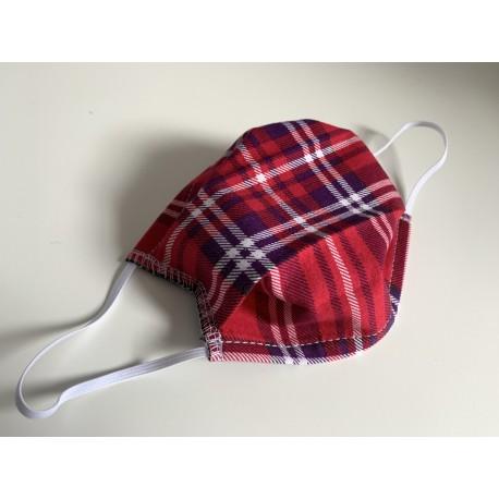 Masquillon JUNIOR - motif - rouge écossais