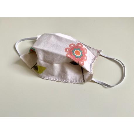 Masquillon KIDS - motif - Blanc avec fleur