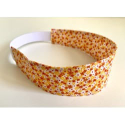 Bandeau ENFANT - liberty fleuri orange