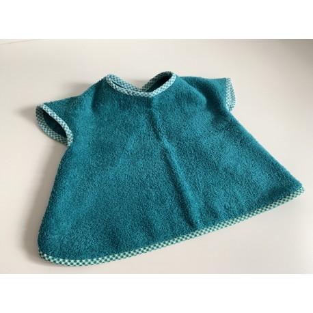 Bavoir à manches - tablier personnalisable - Pétrole - pour bébé (6-30moiis)