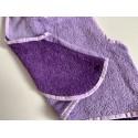 Bavoir/tablier personnalisable - Parle et violet - pour bébé (6-30mois)