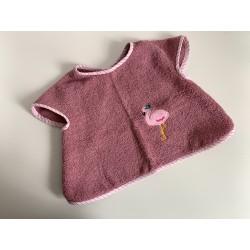 Bavoir à manches - tablier flamand rose - Vieux rose - pour bébé (6-30moiis)