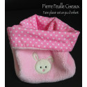 Snood - tour de cou - rose - lapin