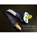 Attache-tétine bleu marine