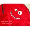 Sortie de bain - rouge - Little Monster
